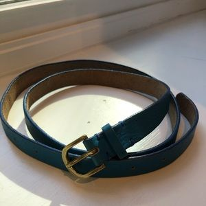 J.Crew Skinny Belt - Blue Leather sz M